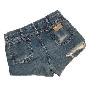 Vintage Wrangler high waist denim cut off shorts
